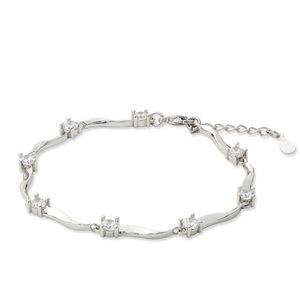 Jewelry - 18K white gold plated 2.3 CTW bracelet.